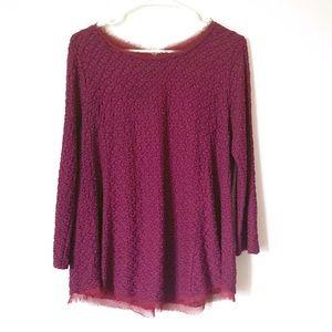 Anthropologie burgundy blouse